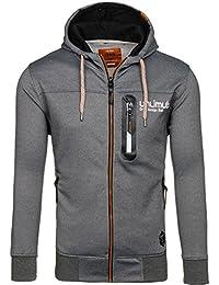 BOLF-Sweat-shirt à capuche – Manches longues – Fermeture éclair- CRWS 3635 Homme [1A1]