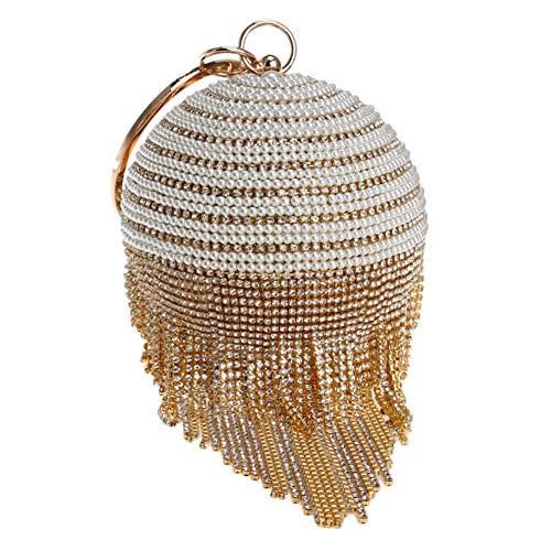 Santimon Luxus Clutches Damen Abendtasche Handtasche Abend Handtaschen Unterarmtasche Hochzeit Party Tasche Gold
