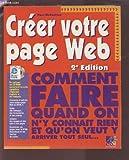 Telecharger Livres CREER VOTRE PAGE WEB 2ME EDITION (PDF,EPUB,MOBI) gratuits en Francaise