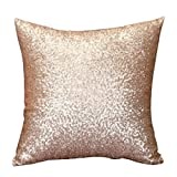 SMILEQ Einfarbig Glitter Pailletten Dekokissen Fall Cafe Home Decor Kissenbezüge (Gold)