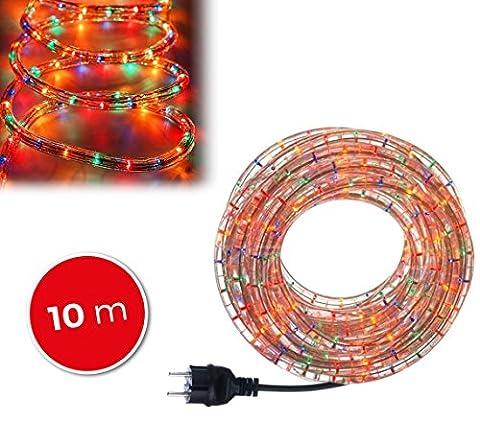 291241 Tube de lumières de Noël 360 ampoules multicolores d'exterieur 10 mt