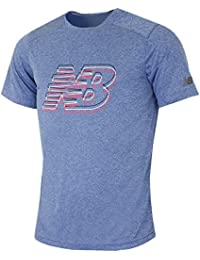 New Balance Manche Courtes Graphic Heather T-Shirt - AW16