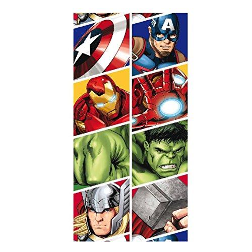 Marvel Comics - Avengers - Badetuch - Infinity War - Captain America - Iron Man - Hulk - Thor - 140 x 70 cm (Marvel Hulk Deluxe Kind Kostüme)