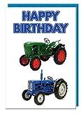 Geburtstagskarte–Vintage Traktor Motto–Dad–Mann–Brother–Sohn–Grandad–Boyfriend