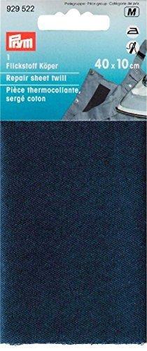 Prym 12 x 45 cm Flickstoff-Körper zum Aufbügeln, blau (Baumwolle Twill-stoff 100%)