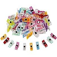 TUXWANG Clips de costura 60pc (27 x 10 mm) Clips pequeños Pinzas de plástico Accesorios de costura Pinzas para coser plástico de Vistoso para coser Quilting Craft Clips