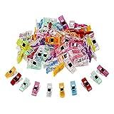 TUXWANG Clip de Couture 50pcs Clips Pinces en Plastique 27 x 10 mm Accessoires de Couture Pinces à Coudre Plastique Multicolore pour Couture Pinces à Quilter Artisanales