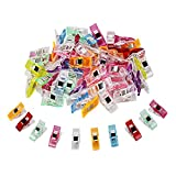 TUXWANG Clips Nähen 50 Stück Klammer 27 x 10 mm Nähen Zubehöre Näh Klammern Kunststoff Mehrfarbig für Nähen Basteln Quilting Clips