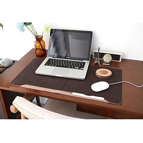 sztara Multifunktional Filz Schreibunterlage Laotop Schlüssel Board Maus Pad Tisch Organizer für Home Office Laptops/Desktops coffee