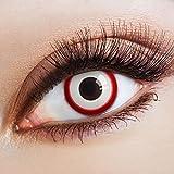 aricona Farblinsen – Bone Saw - deckend weiß – farbige Kontaktlinsen ohne Stärke – bunte, farbig intensive Zombie Augenlinsen, weiße 12 Monatslinsen für Halloween