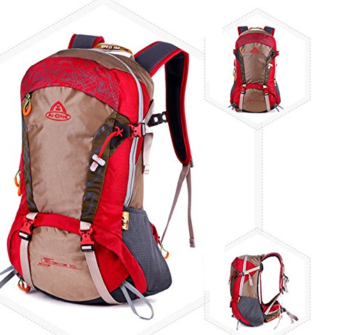 ROBAG Sport all'aria aperta da viaggio zaino impermeabile Equitazione Abbigliamento per uomini e donne per 30L , big red big red