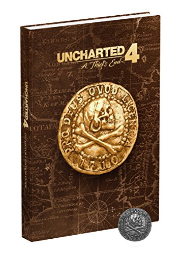 Uncharted 4: A Thief's End Collector's Edition Strategy Guide - Münzen Seltene Buch