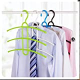 #7: SHAFIRE™ 1 Pc Multipurpose Hanger for Clothes, Space Saving Hanger, Cupboard Organizer (Multi Color)