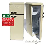 Goldyz G150 Retro Kühl-Gefrier-Kombi Creme A+ 208L Nutzinhalt Kühlschrank