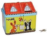 Der kleine Maulwurf - Spardose incl. Namen - Sparbüchse / Schatztruhe Truhe Aufbewahrung - Sparschwein