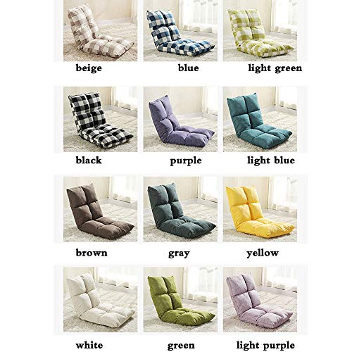 Faule Couch Tatami Single Sofa Stuhl Klappbett Kleinen Sofa Stuhl Schwimmenden Fenster Stuhl Stock Stuhl A (Farbe : Purple) ()