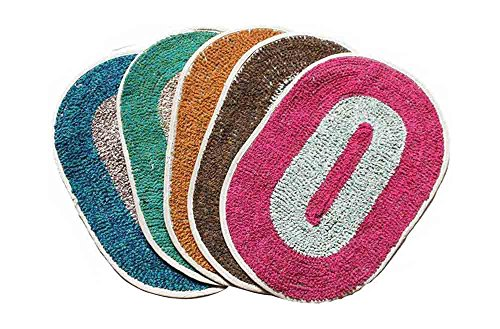 Global Home Store Cotton 5-Piece Doormat – 56 cm x 40 cm, Multi-Color