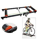 YaeTek Entrenador de rodillo de bicicleta para interiores, color negro, de calidad prémium