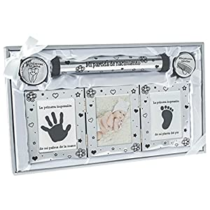 accesorios para bebe: Idea de regalo Ejemplos de regalo para certificado de nacimiento con marco