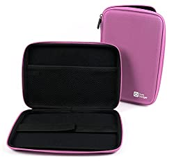 Duragadget Pink Rigid Protective Zip Armoured Case With Soft Inner Lining & Netted Pocket For The Clempad Xl & Asus Vivotab Note 8 (M80ta)