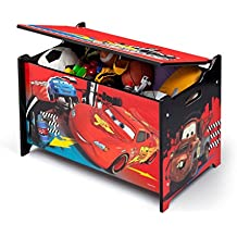 Disney Cars Spielzeugkiste Holz Spielebox Holzkiste Kinderzimmer Kindermöbel Spielzeugbox