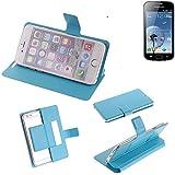 Flipcover Schutz Hülle für Xiaomi Tech Mi 4i, blau