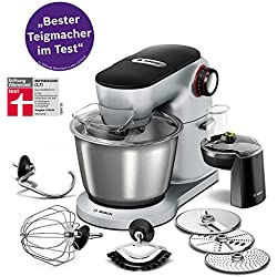 Bosch MUM9D33S11 1300W 5.5L Acero inoxidable - Robot de cocina (5,5 L, Acero inoxidable, Giratorio, 220 - 240, 50/60, Acero inoxidable)