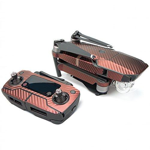 DJI Mavic Pro Autocollant Pellicule de Peau Decal- Imperméable Fibre de Carbone Set de Décalcomanies Peau de Vinyle,Télécommande Batterie Drone Emballage pour DJI Mavic Pro (Jaune violet)