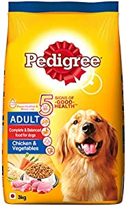 Pedigree Adult Dog Food Chicken & Vegetables, 3 kg