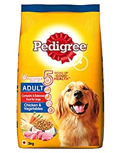 Pedigree Adult Dry Dog Food, Chicken & Vegetables, 3kg Pack