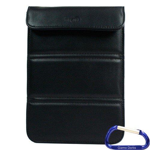 Gizmo Dorks Kunstleder Sleeve Schutzhülle/Ständer (schwarz) mit Karabiner Schlüsselanhänger für die Coby - Gizmo Hat