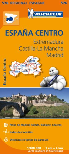 Carte Espagne Centre Michelin par Collectif MICHELIN