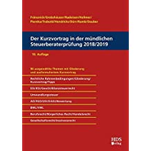 Der Kurzvortrag in der mündlichen Steuerberaterprüfung 2018/2019