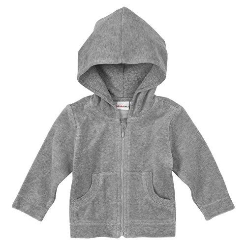BORNINO Nickijacke mit Kapuze Baby-Jacke Babykleidung, Größe 50/56, grau
