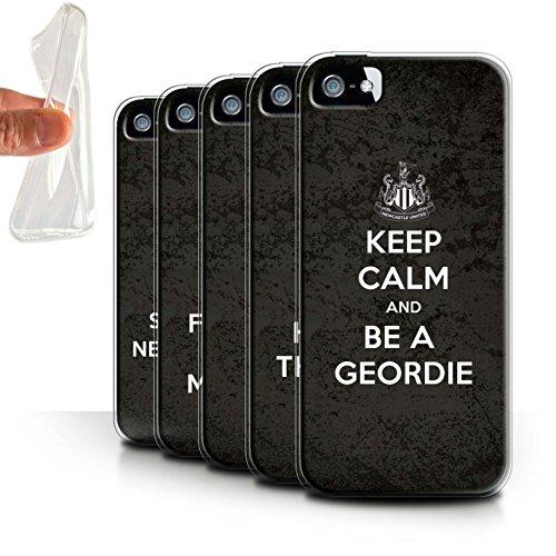 Officiel Newcastle United FC Coque / Etui Gel TPU pour Apple iPhone 5/5S / Pack 7pcs Design / NUFC Keep Calm Collection Pack 7pcs