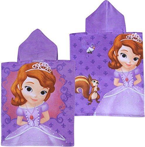 Hooded Knit Poncho (Girl's Purple Disney Sofia The First Super Soft Cotton Hooded Poncho Bath Towel by Disney)