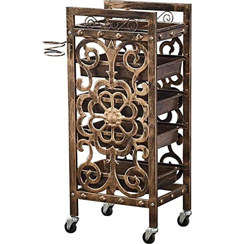 1f385266275d KINKMLO 5 Drawer Salon Rolling Storage Trolley Hairdressers Hairdressing  SPA Hair Stylist Beauty Barber Cart Drawers Roller Hair Dryer Holder and ...