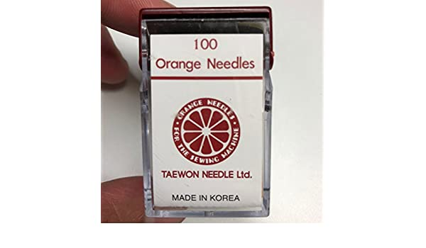 10 KOREAN ORANGE SEWING NEEDLES DBX1 16X231//257 1738