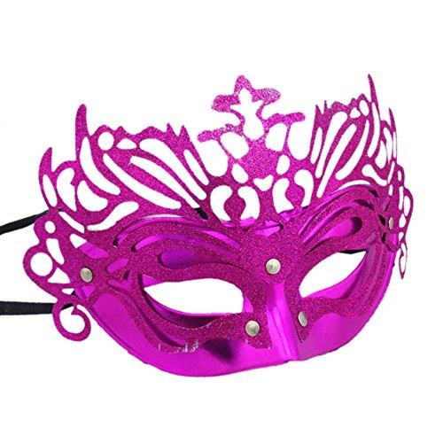 venezianische Maske Gladiator Stil Gesichtsmaske für Maskerade Karneval PartyBall (Rosa) (Römische Kostüme Für Paare)
