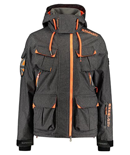 Superdry Herren Skijacke Ultimate Snow Service Jacket grau (231) XL