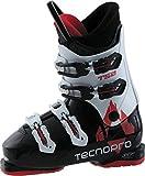 Tecnopro Kinder Ski-Stiefel T50-4 Skistiefel, Schwarz/Weiß, 27