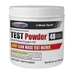 USP Labs Test Powder 240g Mineral Supplement, Blue Raspberry, 8.5oz