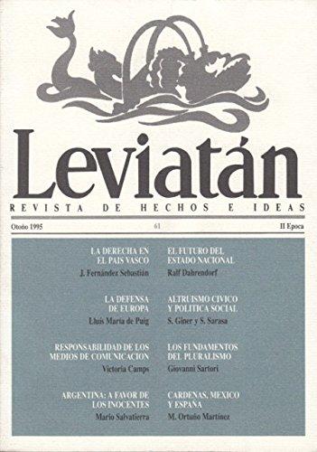 LEVIATN N 61 (La derecha en el Pas Vasco; Los fundamentos del pluralismo; Argentina: a favor de los inocentes)