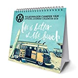 VW Camper Vans Official Desk Easel 2018 Calendar - Month To View Desk Format