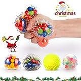 Fansteck Bola Antiestrés [4 Pack], Stress Ball de Diferentes diseño,...