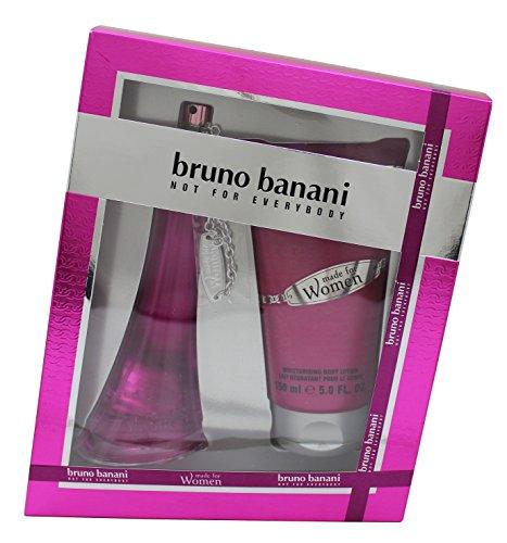 Bruno Banani Made For Women Gift Set EDT Spray 60.0 ml plus Body Lotion 150 ml, 1er Pack (1 x 2 Stück) Womens Gift
