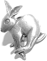 in Gift Pouch Mad March Hare Brooch Pagan style Badge