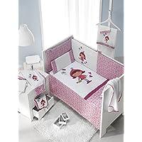 INTER BEBÉ 91701 Set 3 piezas: edredón, nido y almohadas para cuna Mod Caperucita Roja, 60 x 120 cm