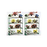 Panana-S 2 Pack - Greenhouse Staging Shed Garage Storage Steel 5 Tiers Shelves Racking Unit
