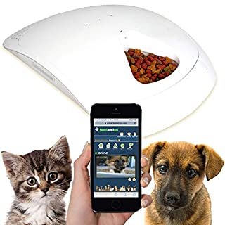 Feed and Go Smart Pet Feeder With WEBCAM & WI-FI Built In. WET & DRY Food Friendly, Control From Anywhere With Any Computer/Tablet/Smartphone (Inc iOS, Android and Windows).